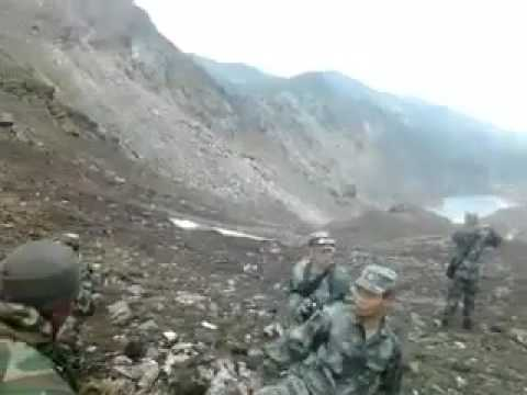 Recently How China soldiers destroyed Indian bunker on border