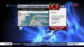 Terjadi Gempa 7,7 SR Di Donggala Sulawesi Tengah