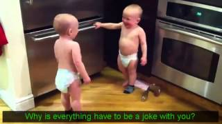 Talking Twin Babies Part 1 Subtitles   Translation HD