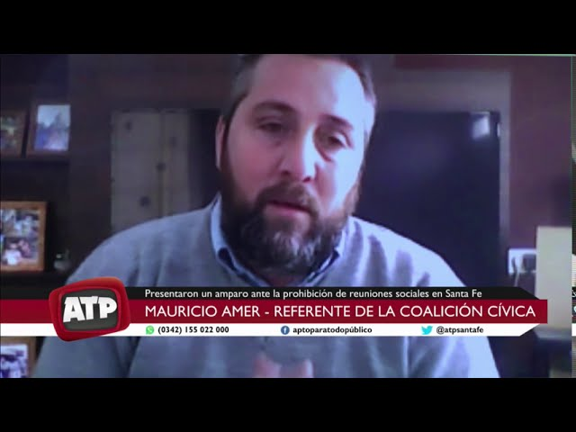 Mauricio Amer, referente de la CC - Amparo por la prohibición de reuniones sociales - ATP 12 08 2020