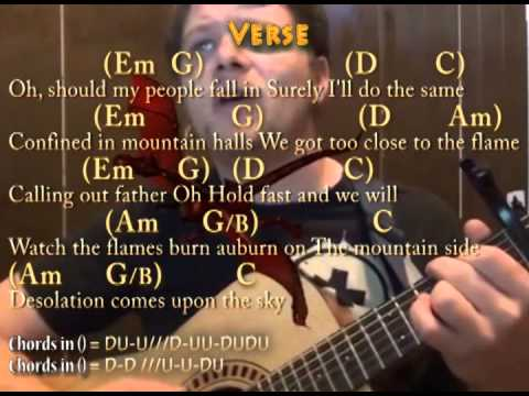 I See Fire Ed Sheeranthe Hobbit Guitar Cover Lesson Lyrics And