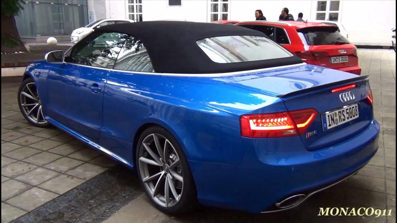 2014 Audi Rs5 Cabrio Start Up Sound Amp Driving Youtube