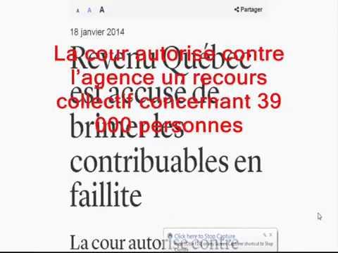 REVENU QUEBEC et les quotas paul arcand 2015/12/16 combien de familles détruites?
