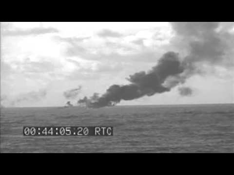 Aboard USS Oakland (CL-95) Showing Japanese Planes Shot Down Off Saipan, 02/22/1944 (full)
