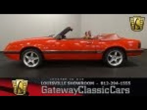 1985 ford mustang lx gt louisville stock 1795 youtube. Black Bedroom Furniture Sets. Home Design Ideas