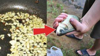 Обжарьте это и добавьте в прикормку От карася будет кипеть вода в точке ловли Жареный лук прикорм
