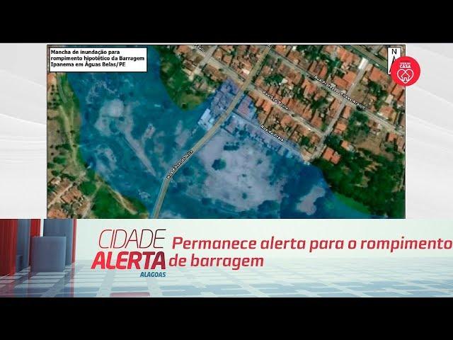 Permanece alerta para o rompimento de barragem em Pernambuco