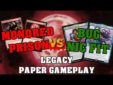 Mono Red Prison vs BUG Nic Fit - Paper Legacy Gameplay