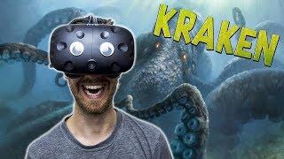 BECOME THE KRAKEN IN VR   Kraken VR - HTC Vive Gameplay