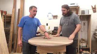 Learn how to cut a round table with Clint and Andrew! A round table...