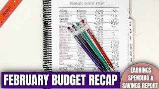 FEBRUARY BUDGET RECAP: How Much I Spent and Saved | Part Time Income Budget Results | KeAmber Vaughn