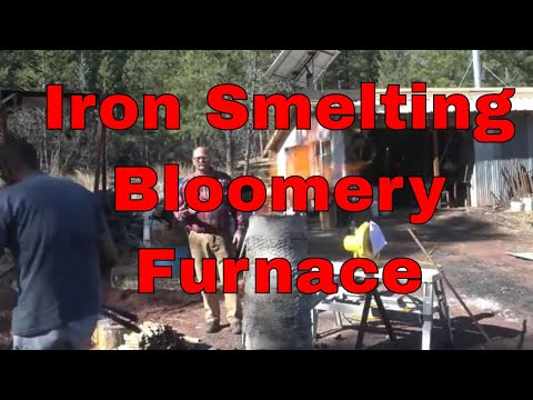 Smelting iron ore in the Bloomery furnace