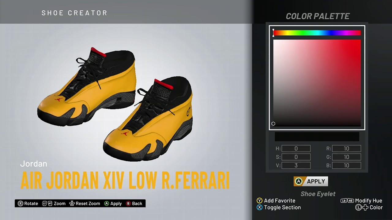 NBA 2K20 Shoe Creator - Air Jordan 14