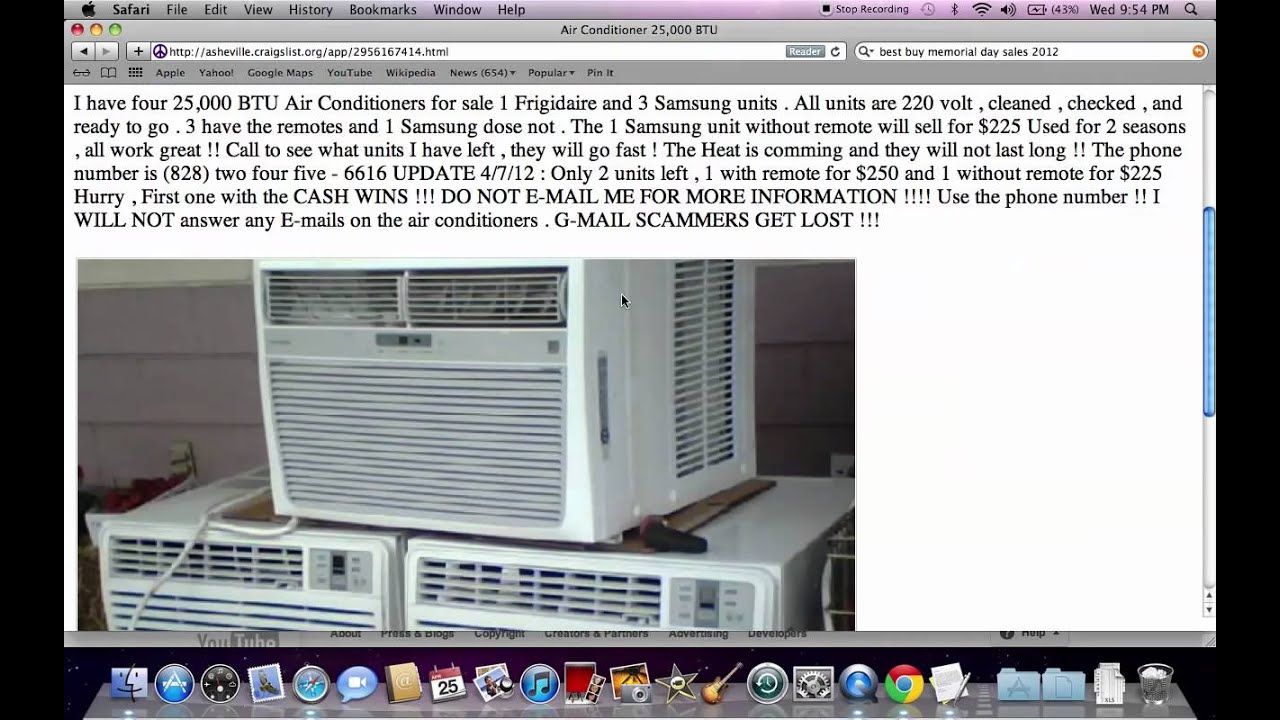 Craigslist Used Appliances for Sale By Owner  Setting Prices