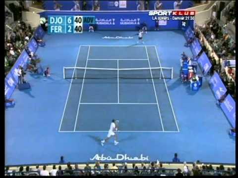 2011 Abu Dhabi - Djokovic def. Ferrer 2:0 (Final) (Highlights)
