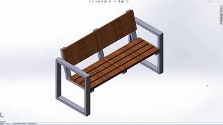 Скамейка 1. Чертеж скачать