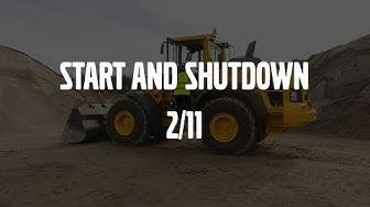 Start and shut down – Volvo Wheel Loaders H-series – Basic operator training – 2/11