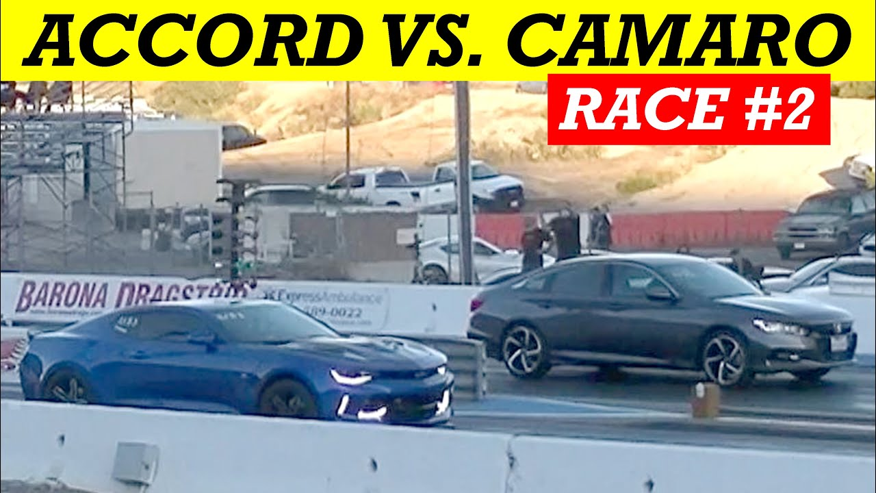 2020 Honda Accord Sport 2.0T vs. 2017 Camaro V6: Race #2