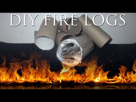 How To Make Fire Logs From Empty T.P. Rolls