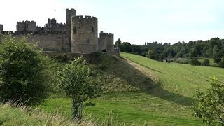 Great Britain - England - the Harry Potter film-set Alnwick Castle and the old town
