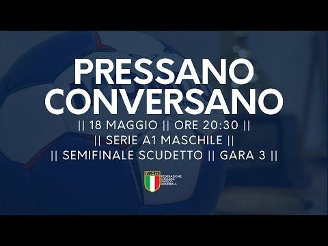 Serie A1M [Semifinale G3]: Pressano - Conversano 24-21