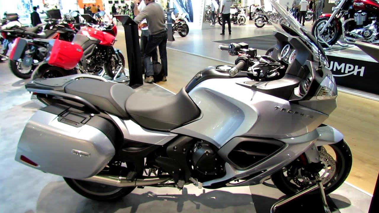 2014 Triumph Trophy SE Walkaround - 2013 EICMA Milan Motorcycle Exhibition - YouTube