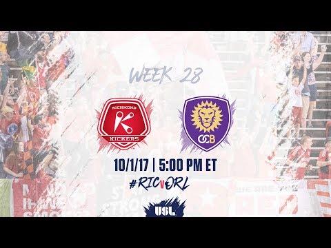 USL LIVE - Richmond Kickers vs Orlando City B 10/1/17