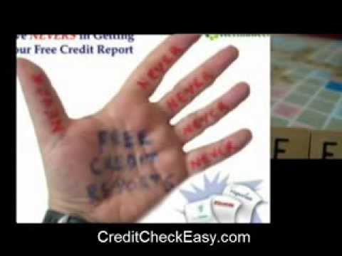 Free Credit Report? Learn The Shocking Truth!