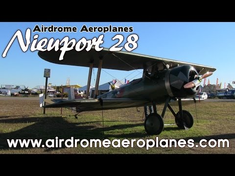 Nieuport 28 WW I Full Scale Replica Fighter Aircraft Kit.