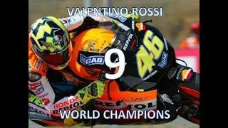 VALENTINO ROSSI MOTO GP WORLD CHAMPIONS 1997-2009