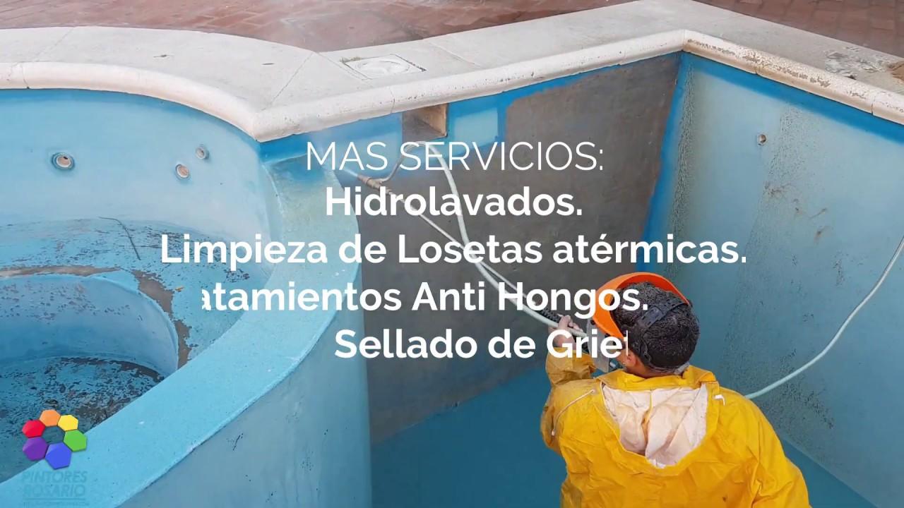 ✅  Hidroarenado de Piscinas By Pintores Rosario.