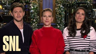 Scarlett Johansson and Niall Horan Make Cecily Strong's Christmas Wish Come True - SNL