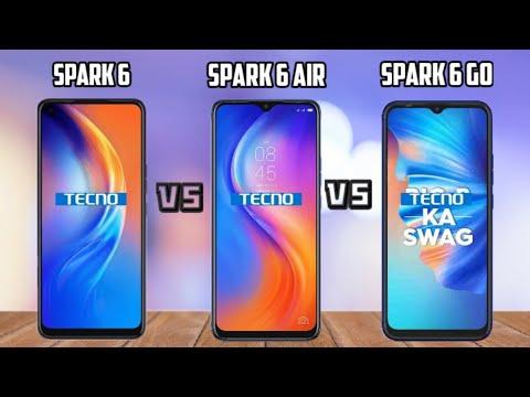 Tecno spark 6 vs spark 6 Air vs spark 6 Go Comparisons