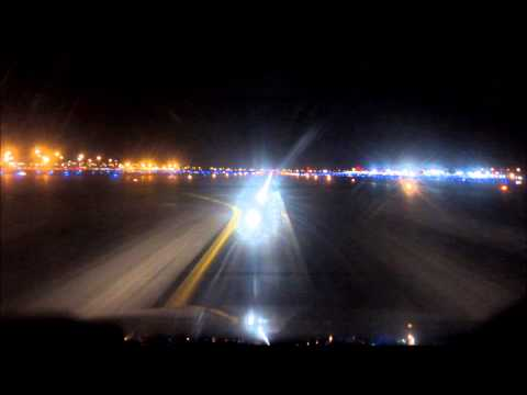 Night visual approach west Palm Beach - Citation V jet