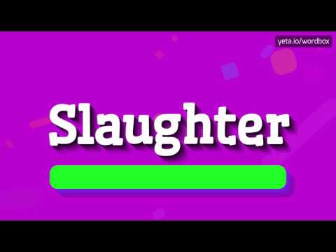 SLAUGHTER - HOW TO PRONOUNCE IT!? (HIGH QUALITY VOICE)