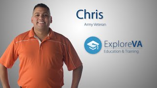 Chris used VA benefits to go back to school and advance his career.