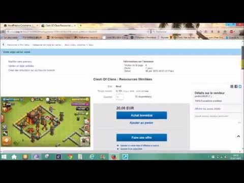 clash of clans illimité sur ebay