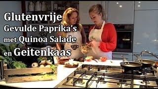 Glutenvrije Gevulde paprika's met Quinoa Salade en Geitenkaas