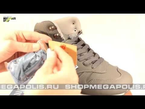 Обзор кроссовок New Balance 1300 сине-серые (высокие, зимние)