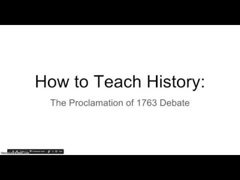 How to Teach History: The Proclamation of 1763 Role-Play Debate Lesson
