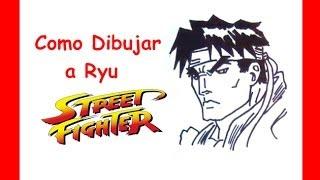 Como dibujar a ryu street fighter   Street Fighter 2   How to draw ryu street fighter