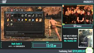 Awesome Games Done Quick 2015 - Part 164 - Dark Souls 2 Glitched by Noobest