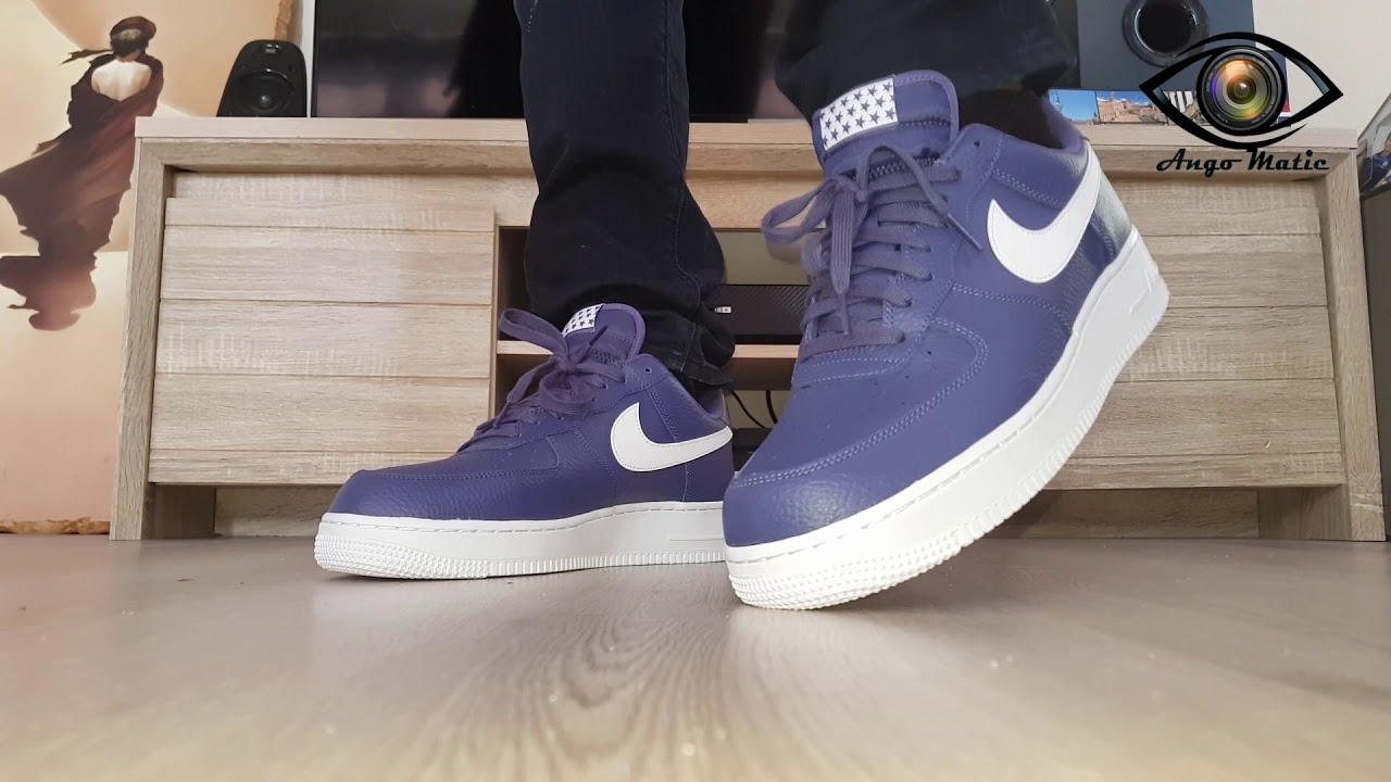 the latest 06d8a c68ea Unboxing AIR FORCE 1 Low Sportswear Sneakers Blue recall white Stars