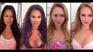 40 PornStars with & without makeup    Pro. Fails