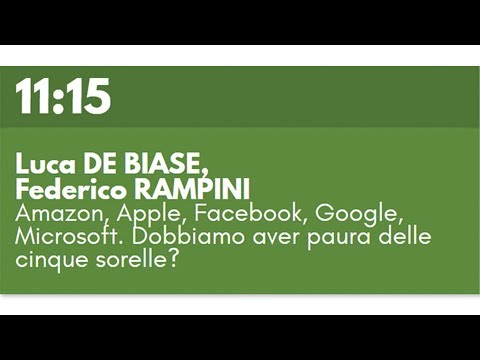Luca DE BIASE, Federico RAMPINI - Amazon, Apple, Facebook, G