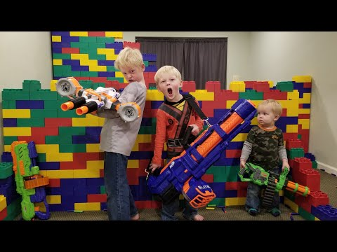 LEGO FORT Nerf War!!! 400 Lbs Of Legos, 60 Guns & 4000 Nerf Darts