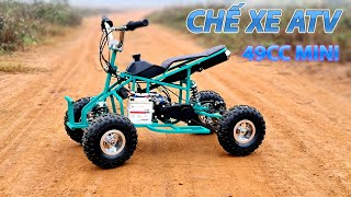 DIY 49cc ATV Quadbike Mini At Home