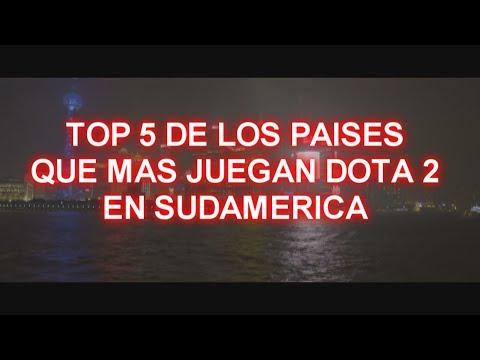 Top 5 Paises que mas Juegan Dota 2 en Sudamerica