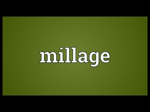 Millage Meaning
