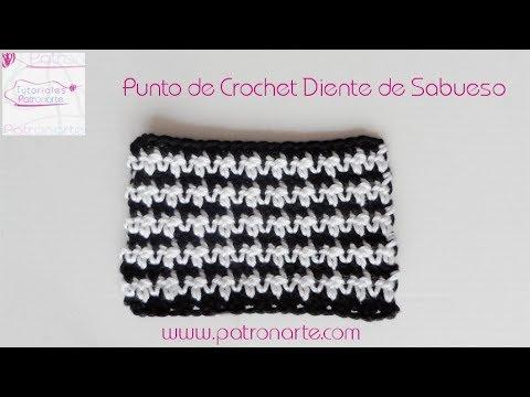 Punto De Crochet Diente De Sabueso Youtube
